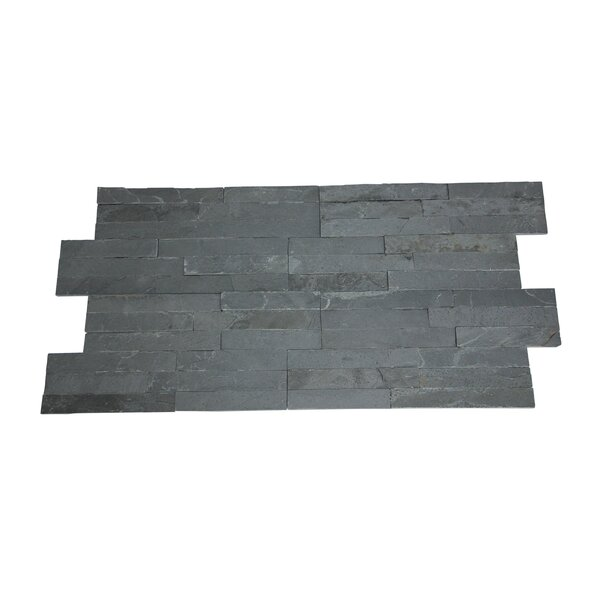 Canyon Random Sized 16 x 7 Natural Stone Tile in Charcoal (Set of 10) by Stone Design