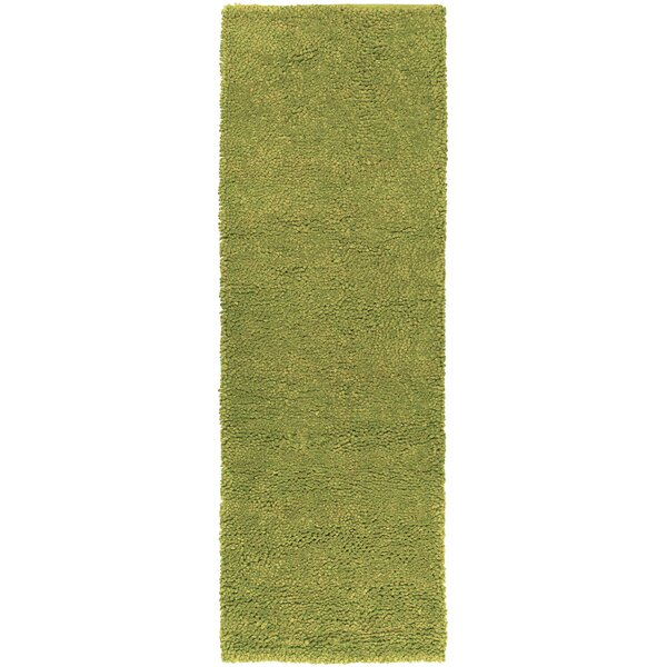 Bonney Handmade Flatweave Wool Green Rug
