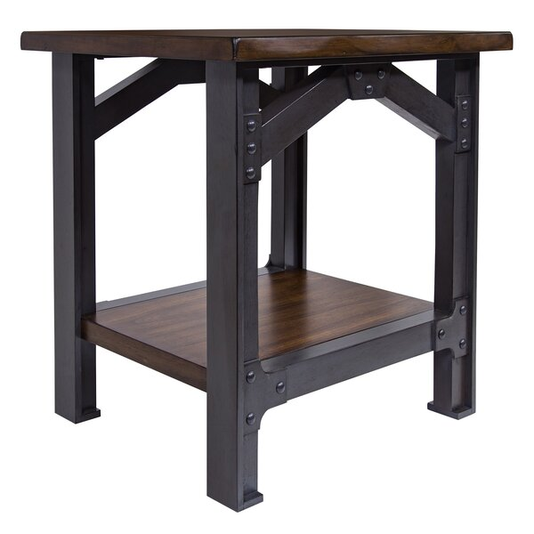 Nadeau End Table by Gracie Oaks