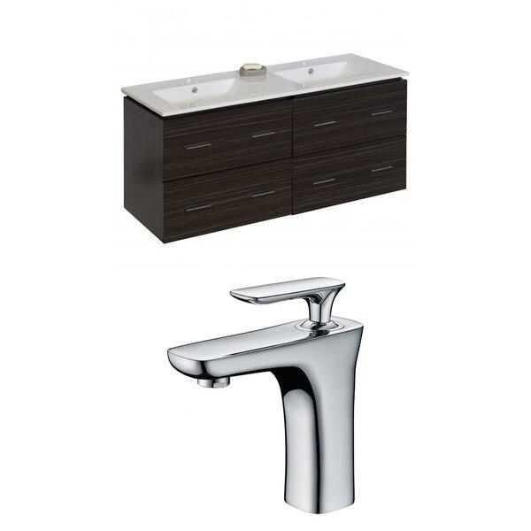 Kyra 48 Double Bathroom Vanity Set with 4 Drawers