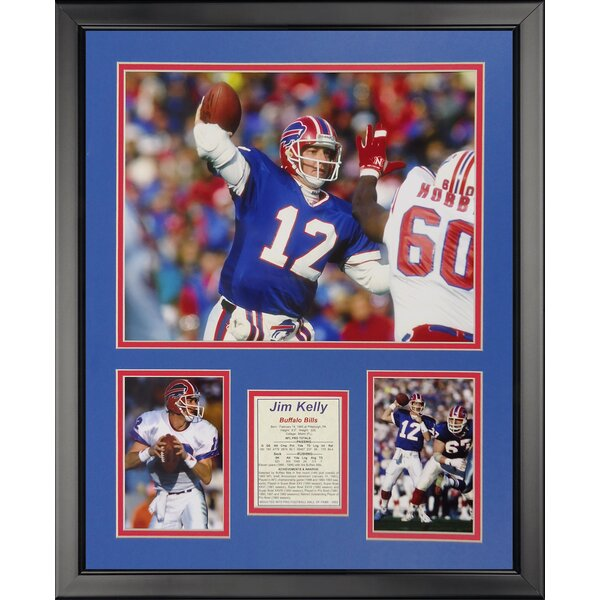 NFL Buffalo Bills - Jim Kelly Framed Memorabili by Legends Never Die
