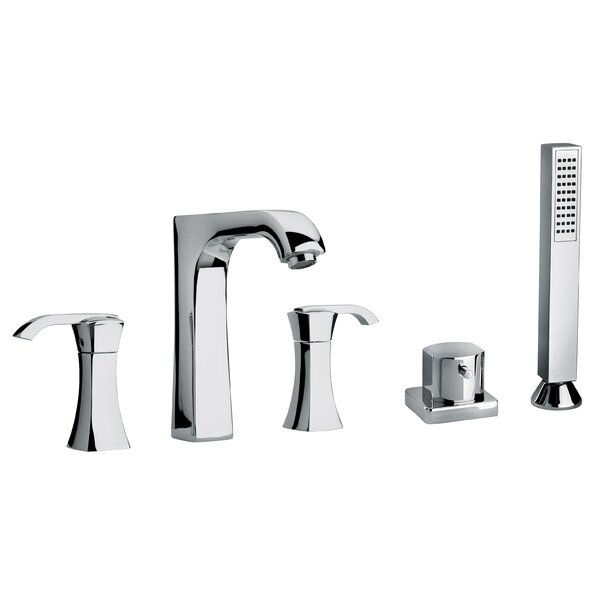 J11 Bath Series Double Handle Deck Mounted Roman Tub Faucet with Handshower by Jewel Faucets Jewel Faucets