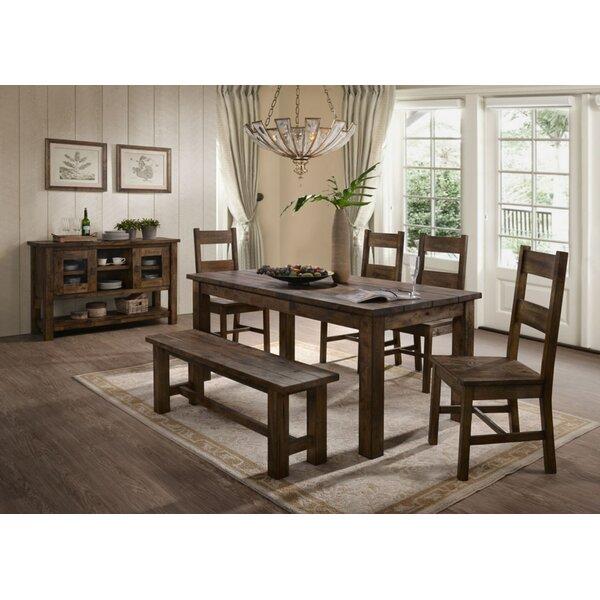 Clemons 54-inch Wide Rubberwood Buffet Table By Loon Peak