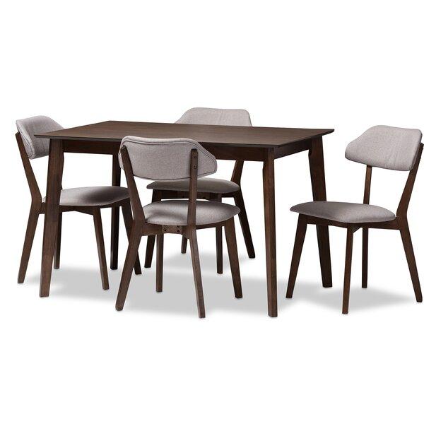 Chapdelaine Upholstered 5-Piece Dining Set by George Oliver George Oliver