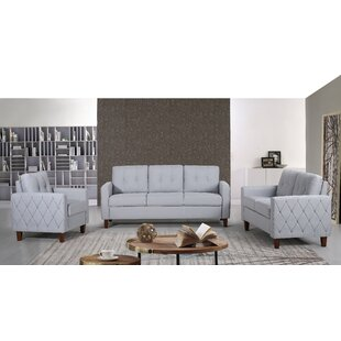 Harrad 3 Piece Living Room Set by Ivy Bronx