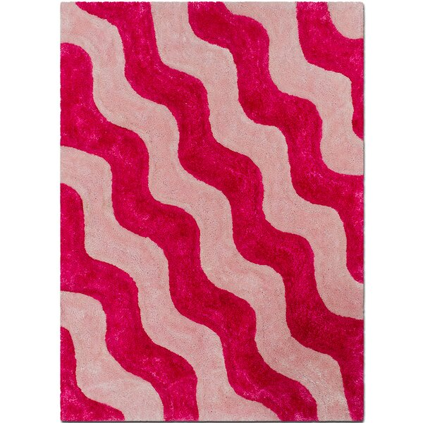 Hand-Tufted Pink Area Rug by AllStar Rugs