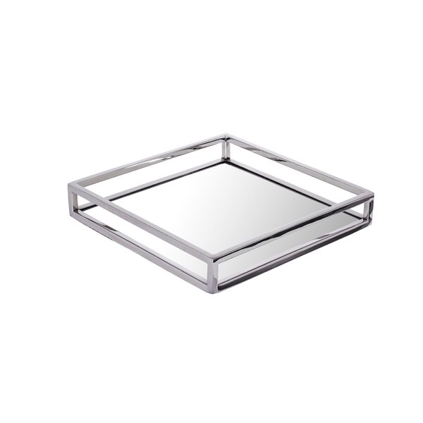 Relic Glass Mirror Platter by Classic Touch