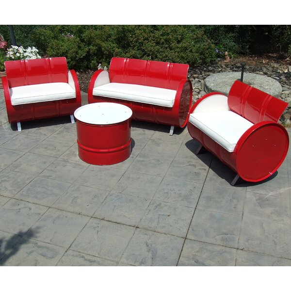 4 Piece Seating Group with Cushions by Drum Works Furniture