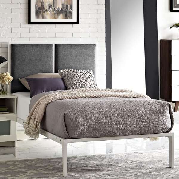Campeon Fabric Upholstered Platform Bed by Ebern Designs