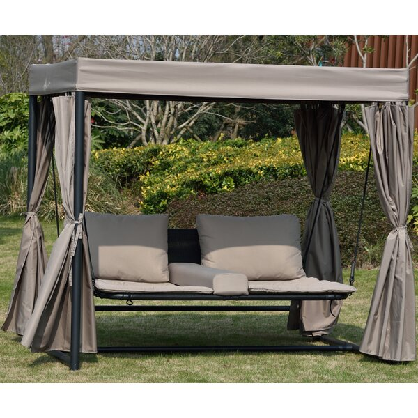 Clovis Double Hanging Chaise Lounger by Rosecliff Heights