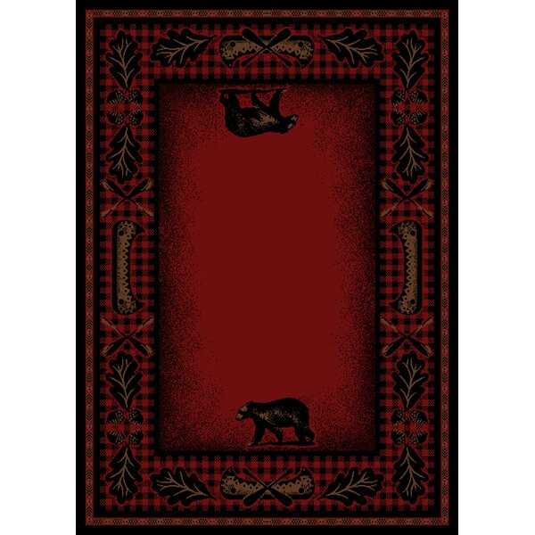 Windsor Lane Red Area Rug by Loon Peak