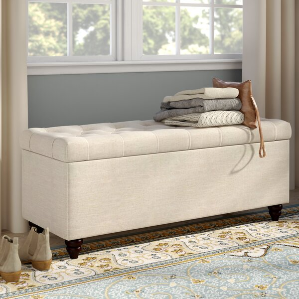 Chesterfield Upholstered Storage Bedroom Bench by Diamond Sofa