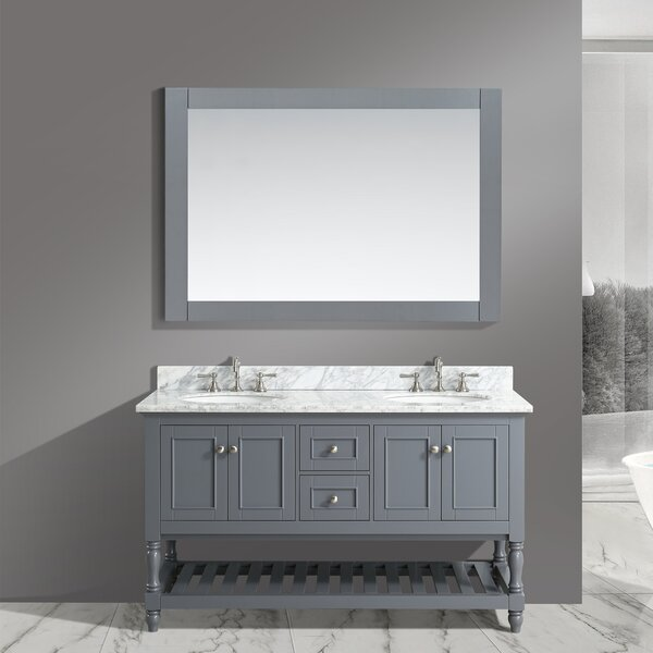 Mccombs 60 Double Bathroom Vanity Set with Mirror by Charlton Home