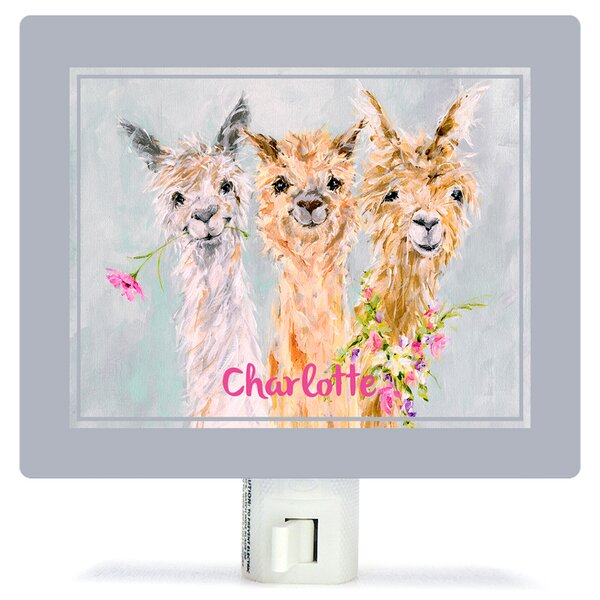 Sweet Alpacas by Susan Pepe Night Light by Oopsy Daisy