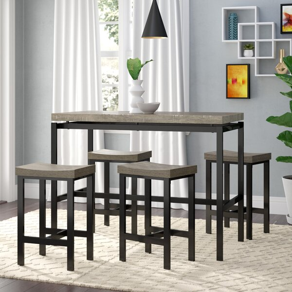 Beveridge 5 Piece Dining Set by Wrought Studio