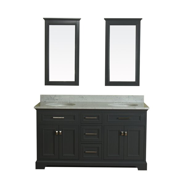 Coston 61 Double Bathroom Vanity Set with Mirror by Red Barrel Studio