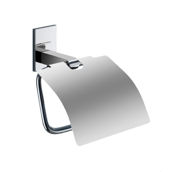 Maine Wall Mounted Toilet Paper Holder with Cover by Gedy by Nameeks