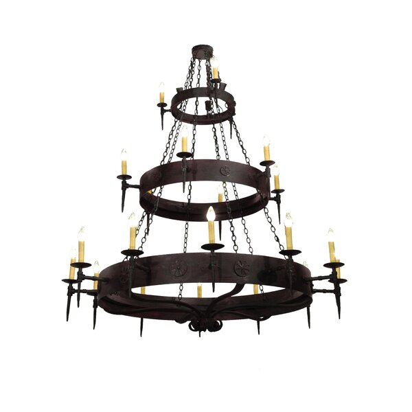 Bickley 21 - Light Unique / Statement Tiered Chandelier with Crystal Accents by Breakwater Bay Breakwater Bay