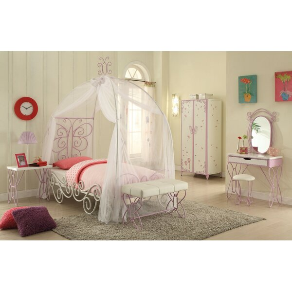 Kimes Full Canopy Bed by Zoomie Kids