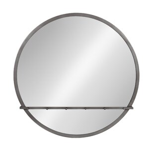 Wrought Studio Fowles Round Metal Framed Accent Mirror
