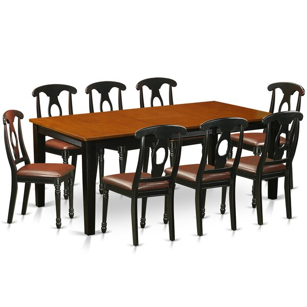 Pilger Contemporary 9 Piece Dining Set by August Grove