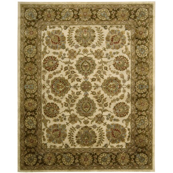 Delaware Ivory/Brown Rug by Darby Home Co