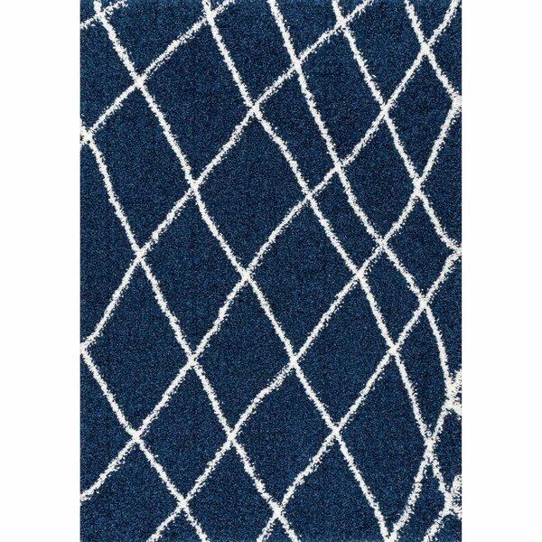 Hackett Blue Area Rug by Ebern Designs