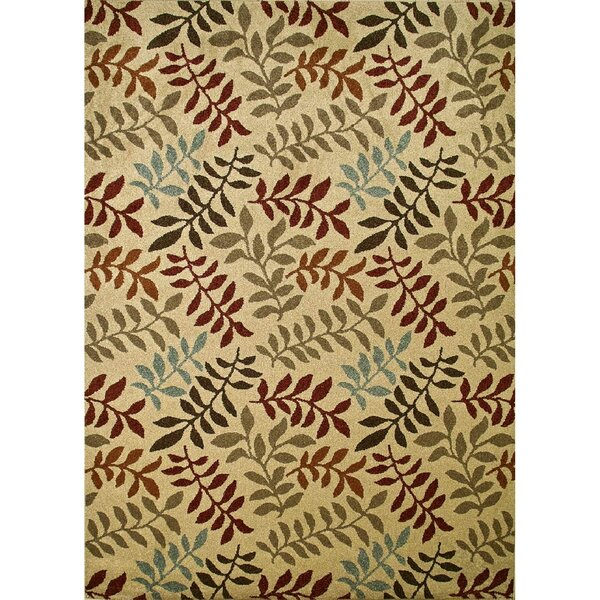 Chester Ivory Leafs Area Rug by Threadbind