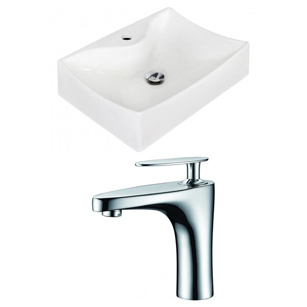 Ceramic 21.5 Bathroom Sink with Faucet