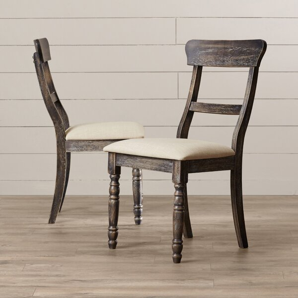 Sandown Upholstered Dining Chair (Set of 2) by Three Posts