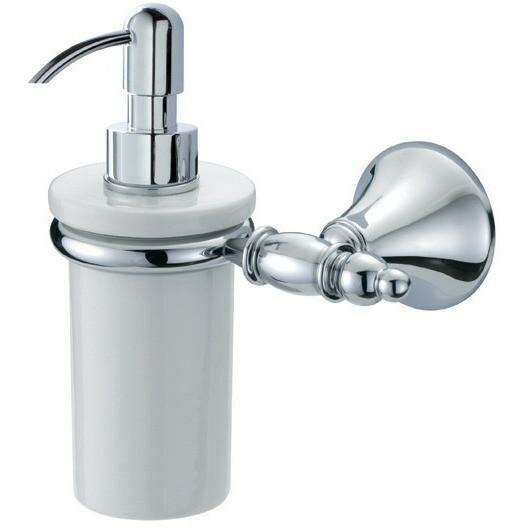 Solomon Wall Mounted Ceramic Soap & Lotion Dispenser by Orren Ellis