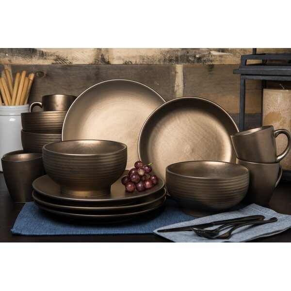 Schlosser 16 Piece Dinnerware Set, Service for 4 by World Menagerie