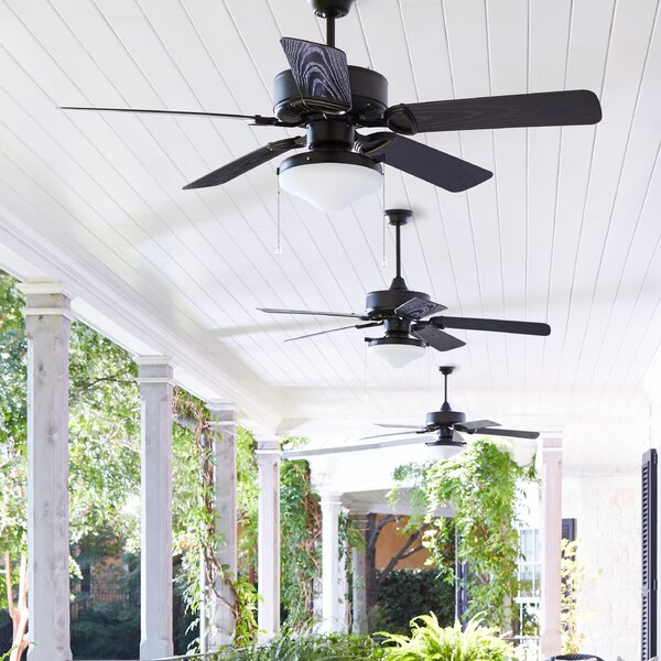 52 Schiller 5-Blade Patio Ceiling Fan by Laurel Foundry Modern Farmhouse