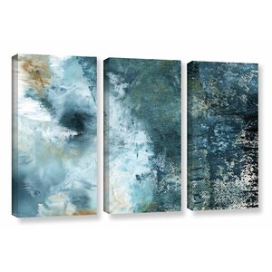 Summer Storm 3 Piece Graphic Art on Wrapped Canvas Set by Latitude Run