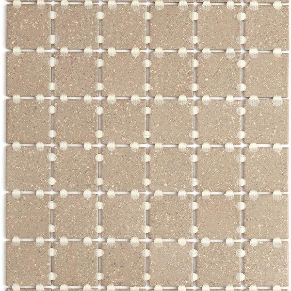 Dalton 12 x 24 Porcelain Mosaic Tile in Tan Speckle by Itona Tile