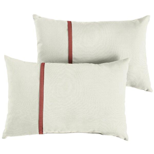 Flatt Indoor/Outdoor Sunbrella Lumbar Pillow (Set of 2) by Charlton Home