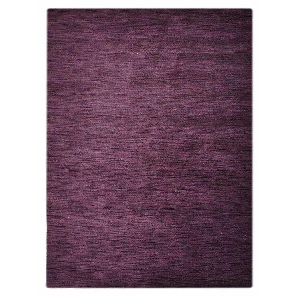 Creager Hand-Tufted Wool Purple Area Rug by Ebern Designs