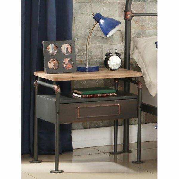 Glazer 1 Drawer Nightstand by Williston Forge Williston Forge