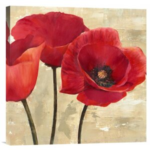 'Red Poppies II' Painting Print on Wrapped Canvas by Alcott Hill