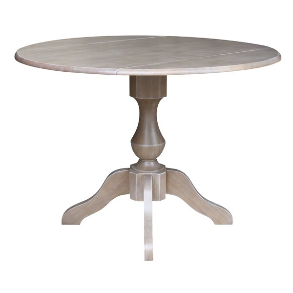 Pattie Drop Leaf Solid Wood Dining Table by Canora Grey