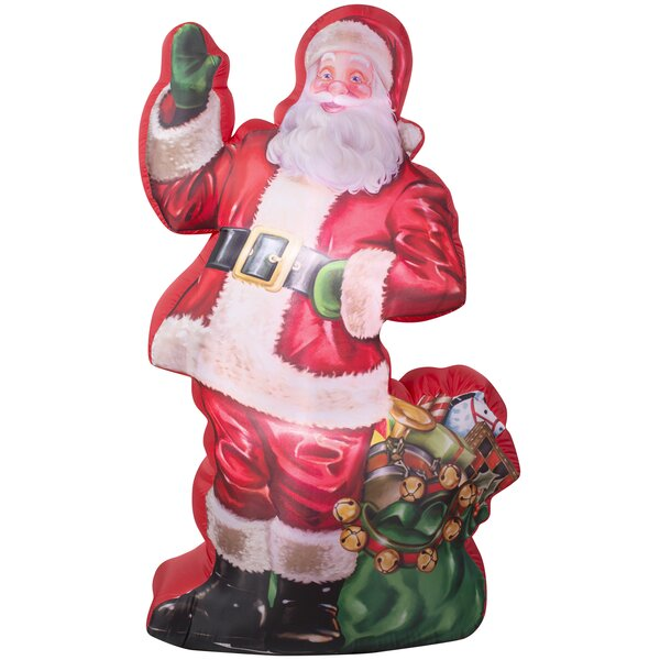 Photorealistic Santa Claus with Gift Sack Christmas Oversized Figurine by The Holiday Aisle