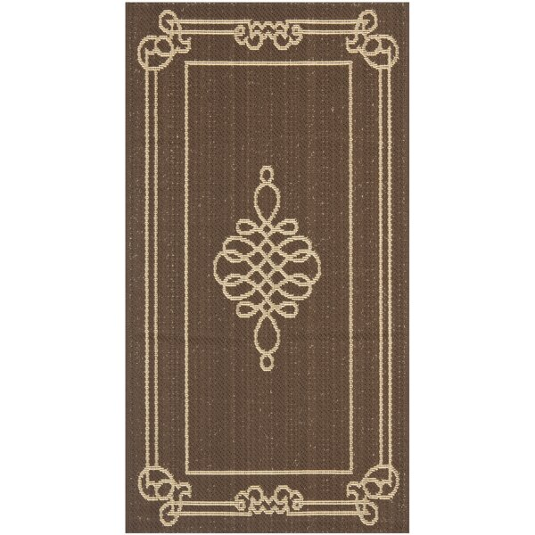 Alderman Chocolate/Cream Indoor/Outdoor Area Rug by Charlton Home