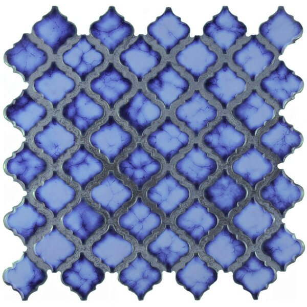 Pharsalia 2 x 2.25 Porcelain Mosaic Tile in Sapphire by EliteTile