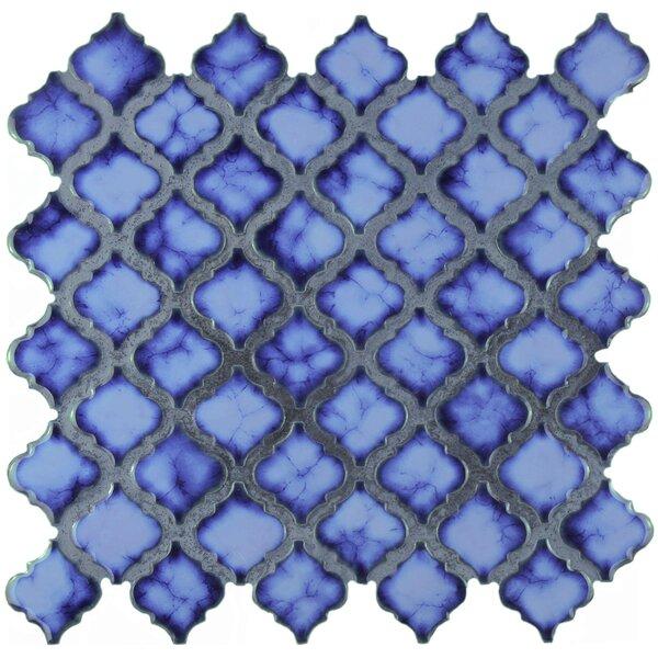 Pharsalia 2 x 2.25 Porcelain Mosaic Tile in Sapphire by EliteTile