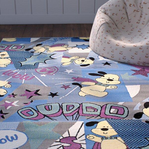 Luann Slate Blue Dog Area Rug by Zoomie Kids