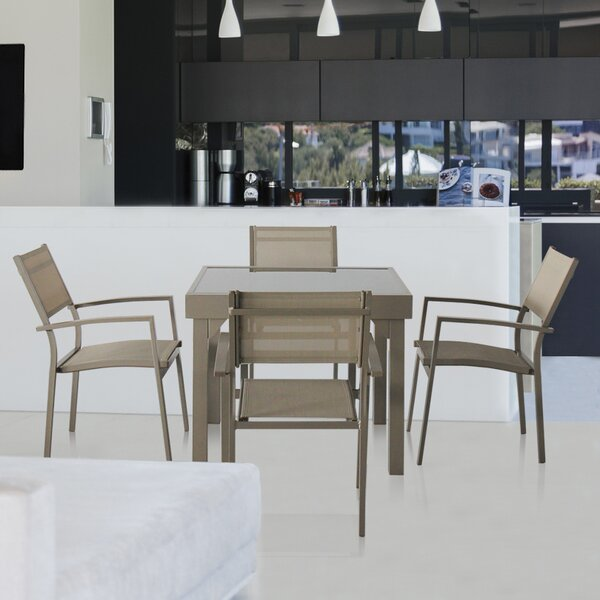 Aluminum 5 Piece Dining Set by Magari