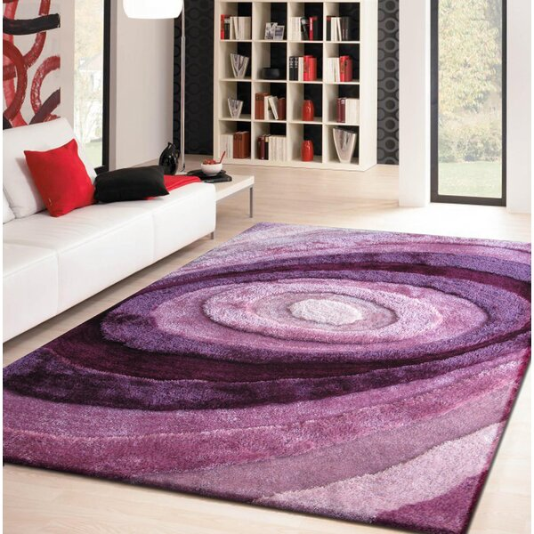 Qualls Hand-Tufted Lavender Area Rug by Latitude Run