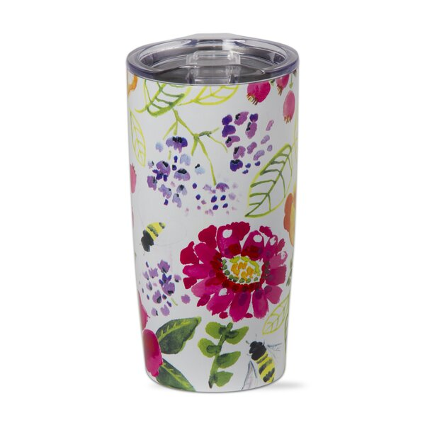 Fresh Flowers 18 oz. Stainless Steel Travel Tumbler by TAG