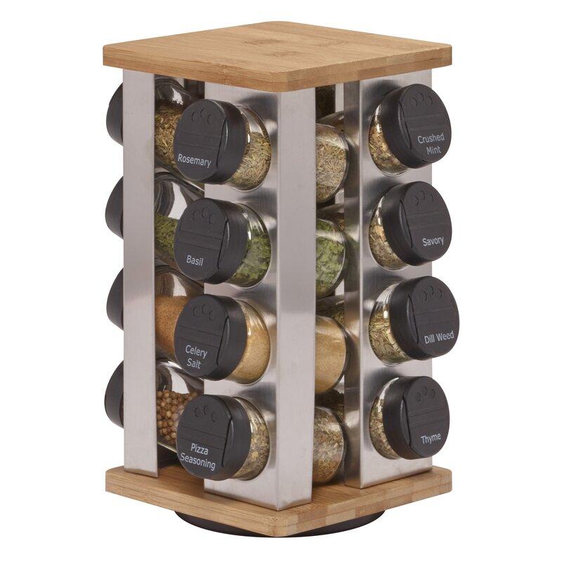 Revolving 16 Jar E Rack Set