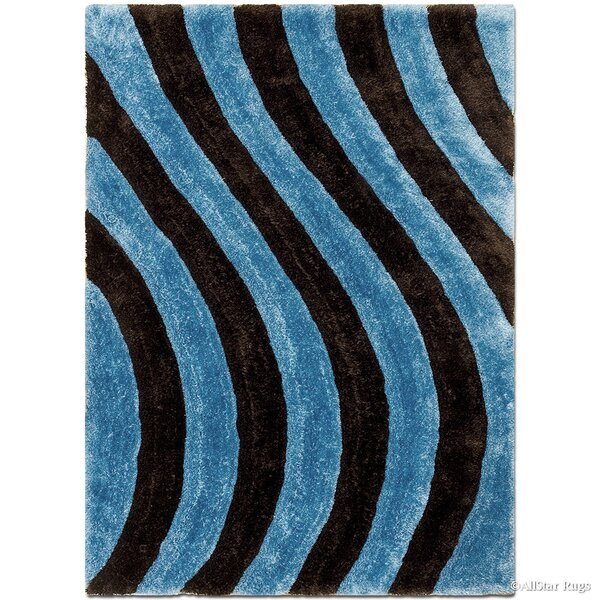Hand-Tufted Blue/Black Area Rug by AllStar Rugs
